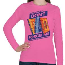PRINTFASHION Édes emlék - Női hosszú ujjú póló - Rózsaszín