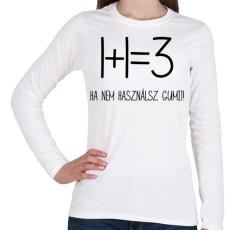 PRINTFASHION Egy kis matekozás - Női hosszú ujjú póló - Fehér