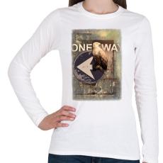 PRINTFASHION Egy út - Női hosszú ujjú póló - Fehér