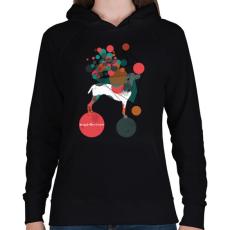 PRINTFASHION Egyensúlyban - Női kapucnis pulóver - Fekete