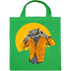 PRINTFASHION Éjjeli szörnyfarkas - Vászontáska - Zöld