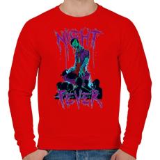 PRINTFASHION Éjszakai láz - Férfi pulóver - Piros