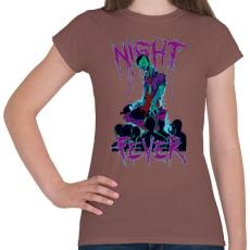 PRINTFASHION Éjszakai láz - Női póló - Mogyoróbarna