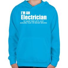 PRINTFASHION ELECTRICIAN - Gyerek kapucnis pulóver - Azúrkék