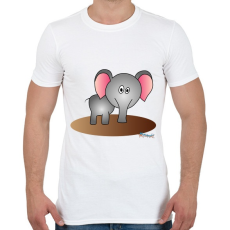 PRINTFASHION Elefánt - Férfi póló - Fehér
