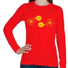 PRINTFASHION ELEKTRON - Női hosszú ujjú póló - Piros