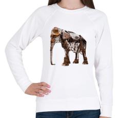 PRINTFASHION Elephant - Női pulóver - Fehér
