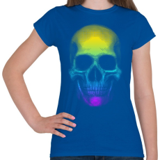 PRINTFASHION Eleven koponya - Női póló - Királykék