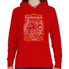 PRINTFASHION Elítélt - Női kapucnis pulóver - Piros