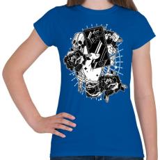 PRINTFASHION Elkötelezett - Női póló - Királykék