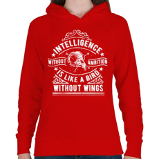 PRINTFASHION Eltökélt  - Női kapucnis pulóver - Piros