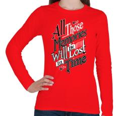 PRINTFASHION Emlékezz - Női hosszú ujjú póló - Piros