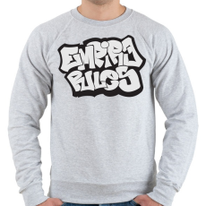 PRINTFASHION Empire Rules - Férfi pulóver - Sport szürke
