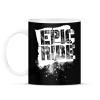 PRINTFASHION Epic Ride - fehér - Bögre - Fekete