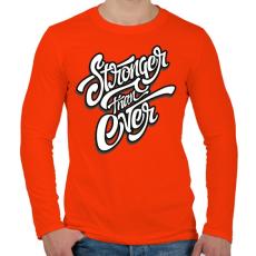 PRINTFASHION Erősebb mint valaha - Férfi hosszú ujjú póló - Narancs