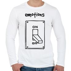PRINTFASHION Érzelmek Be-Ki - Férfi hosszú ujjú póló - Fehér