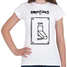 PRINTFASHION Érzelmek Be-Ki - Női póló - Fehér