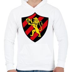 PRINTFASHION Escudo Logo - Férfi kapucnis pulóver - Fehér