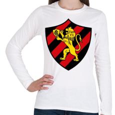 PRINTFASHION Escudo Logo - Női hosszú ujjú póló - Fehér