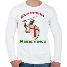 PRINTFASHION European Resistance - Férfi hosszú ujjú póló - Fehér