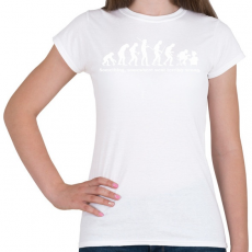 PRINTFASHION Evolúció - Női póló - Fehér