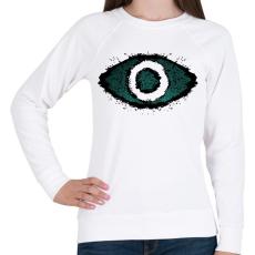 PRINTFASHION EYE - Női pulóver - Fehér