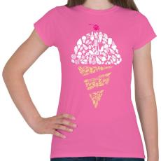 PRINTFASHION Fagyi - Női póló - Rózsaszín