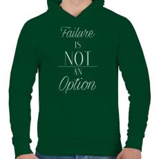 PRINTFASHION Failure - Férfi kapucnis pulóver - Sötétzöld