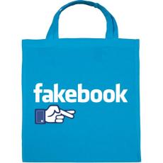 PRINTFASHION Fakebook - Vászontáska - Kék