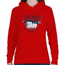 PRINTFASHION Fanyűvők - Női kapucnis pulóver - Piros