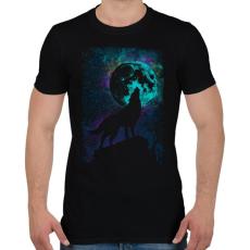 PRINTFASHION Farkas holdfényben - Férfi póló - Fekete