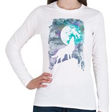 PRINTFASHION Farkas holdfényben - Női hosszú ujjú póló - Fehér
