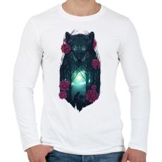 PRINTFASHION Farkasok - Férfi hosszú ujjú póló - Fehér