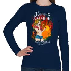 PRINTFASHION Farmerek lánya - Női hosszú ujjú póló - Sötétkék