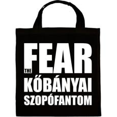 PRINTFASHION Fear the kőbányai szopófantom - Vászontáska - Fekete