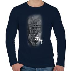PRINTFASHION fearthe59wh-01 - Férfi hosszú ujjú póló - Sötétkék