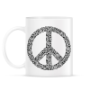 PRINTFASHION Fegyver béke - Bögre - Fehér