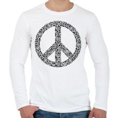 PRINTFASHION Fegyver béke - Férfi hosszú ujjú póló - Fehér