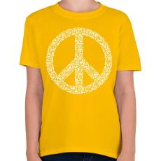 PRINTFASHION Fegyver béke - Gyerek póló - Sárga
