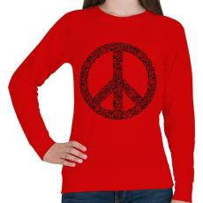PRINTFASHION Fegyver béke - Női pulóver - Piros