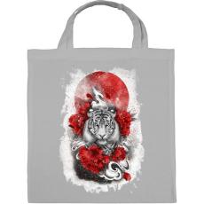 PRINTFASHION Fehér tigris - Vászontáska - Szürke