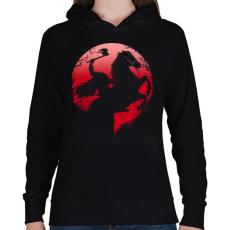 PRINTFASHION Fej nélküli lovas - Női kapucnis pulóver - Fekete
