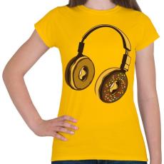 PRINTFASHION Fejhallgató - Női póló - Sárga