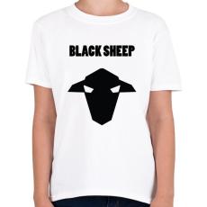PRINTFASHION fekete bárány - Gyerek póló - Fehér