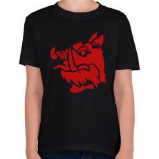 PRINTFASHION fekete lovag - Gyerek póló - Fekete