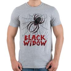 PRINTFASHION Fekete özvegy - Férfi póló - Sport szürke