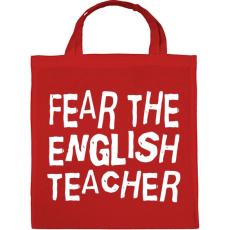 PRINTFASHION Félelem az angol tanártól! - Vászontáska - Piros