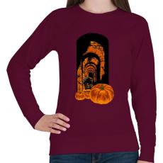 PRINTFASHION Félelmetes - Női pulóver - Bordó