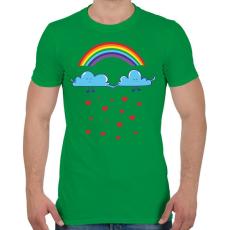 PRINTFASHION Felhőcskék - Férfi póló - Zöld