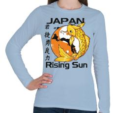 PRINTFASHION Felkelő nap - Női hosszú ujjú póló - Világoskék